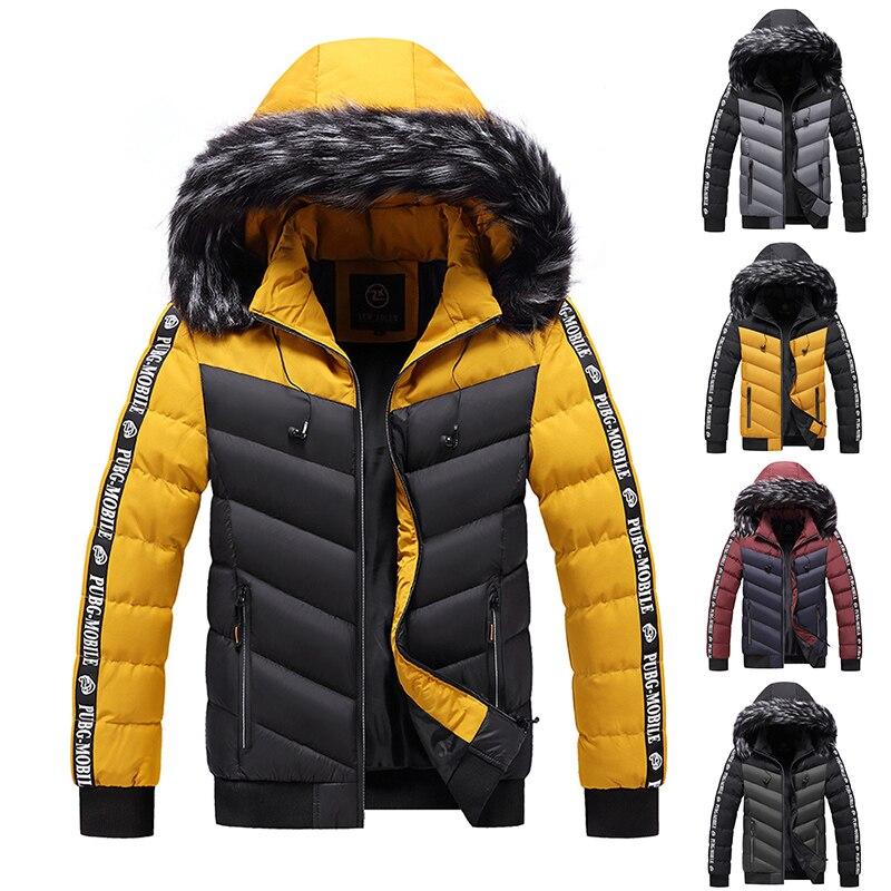 Новинка 2021, Брендовые мужские зимние теплые повседневные куртки, мужские парки, осенняя ветрозащитная плотная одежда, уличная Модная прита...