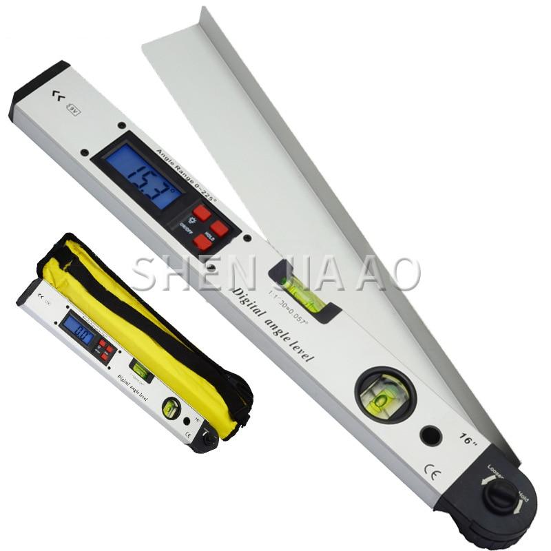 400mm/16 pulgadas DC06 pantalla Digital ángulo electrónico nivel láser portátil pantalla Digital ángulo Herramienta 1PC