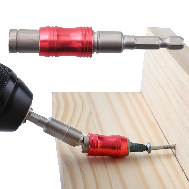 Держатель для отвертки, Регулируемое направление, угол 20 градусов, магнитный удлинитель для отвертки, для шестигранного хвостовика 1/4 дюйма