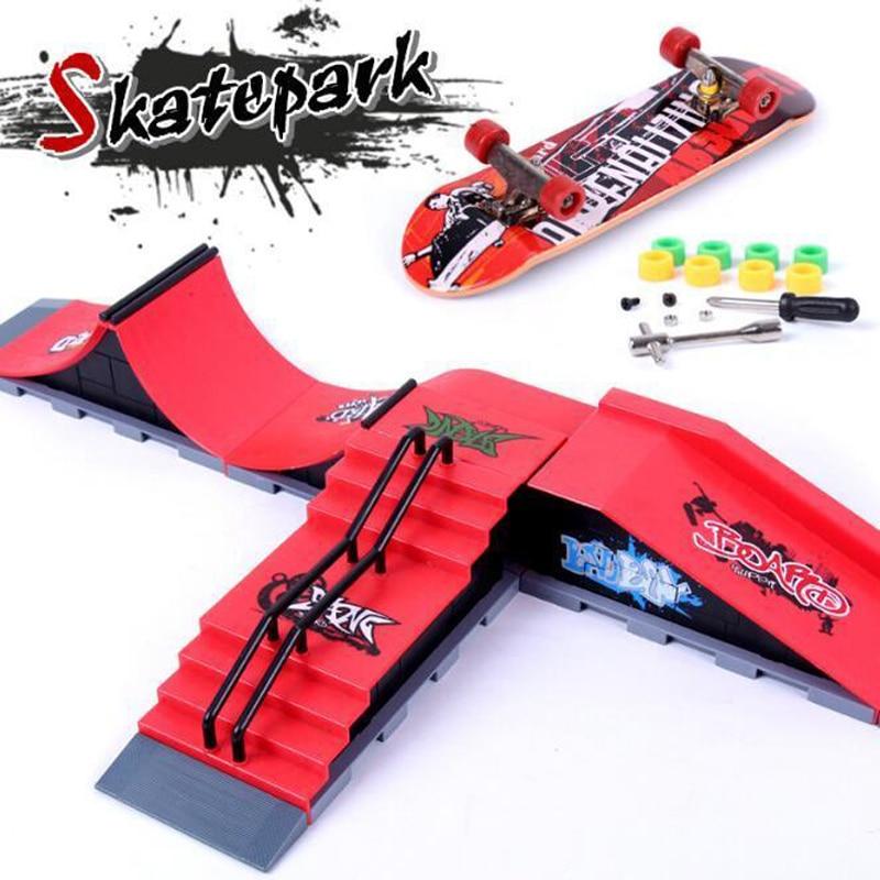 Finger Skateboards скейт парк рампы Запчасти для техничной практики колода детский подарочный набор пальчиковые игрушки для детей Подарки