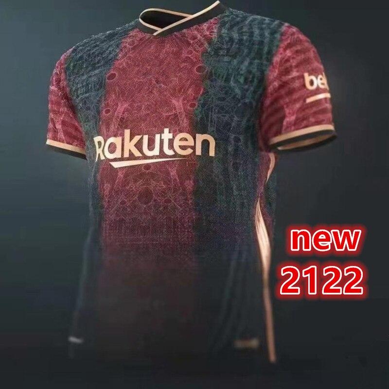 DE JONG nuevo 2021 21 -22 DE calidad superior BarcelonaES camisa MESSI...