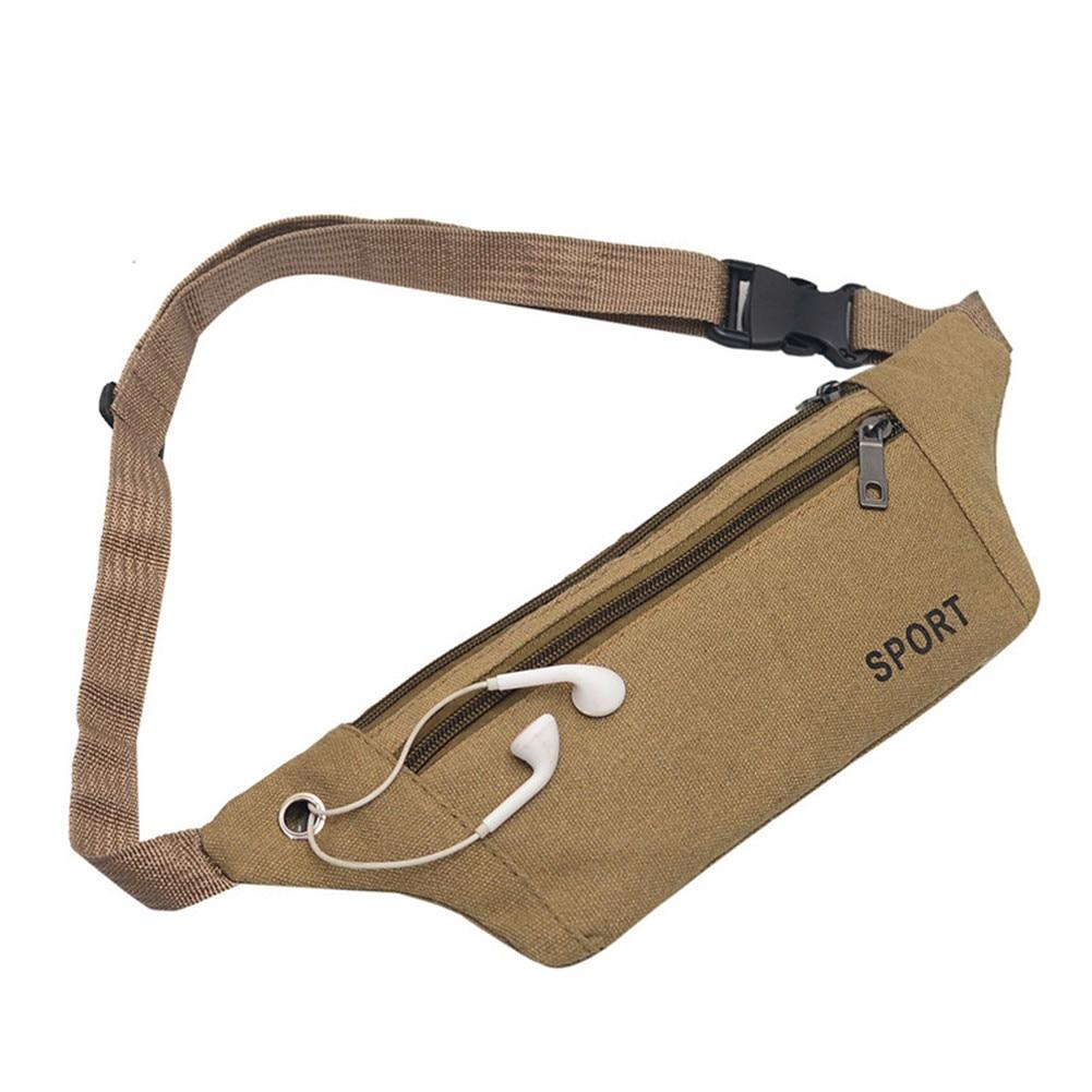 Bandolera riñonera cinturón de lona Vintage para hombre, monedero, Cartera de viaje para senderismo, bolso mensajero, bolso de hombro tipo bandolera