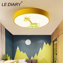 LEDIARY 220V LED Ceiling Lamp Cartoon Kids Boy Girls Room Round Multicolor 18W Ceiling Surface Mounted LED Lighting Fixtures