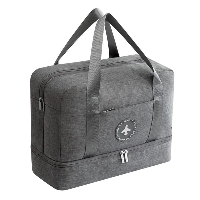 Bolsa de viaje impermeable de tela catiónica de gran capacidad bolsa de playa de doble capa bolsas de lona portátiles bolsas de embalaje cubo bolsas de fin de semana