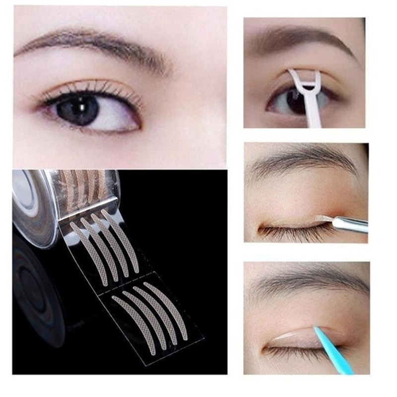 600 Uds./carrete doble ojos maquillaje párpado pegatina doblar Auto adhesivo párpado cinta pegatinas maquillaje claro Invisible herramienta de ojo
