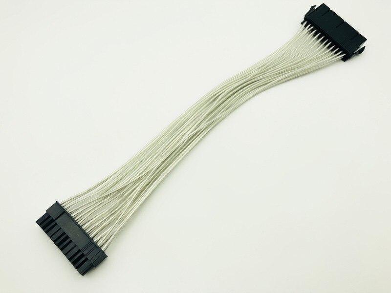 5 piezas ATX 24 Pin macho a 24Pin hembra de alimentación de Cable de extensión interna PC PSU TW conector de alimentación de alambre 24Pin Cable de extensión