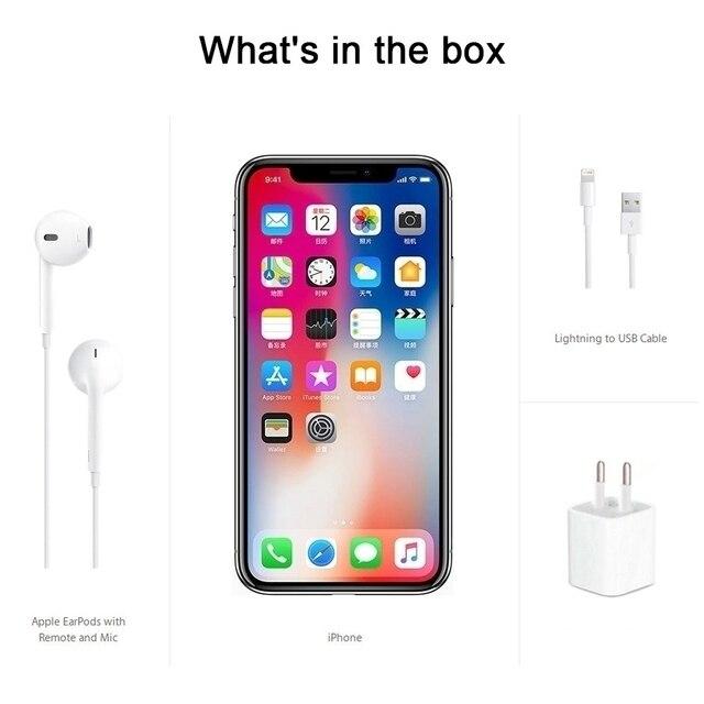 "Original iOS Apple iPhone X A11 3GB RAM 64GB/256GB ROM Hexa Core 5.8"" 12MP Dual Back Camera Face ID 4G LTE Unlocked Mobile Phone 8"