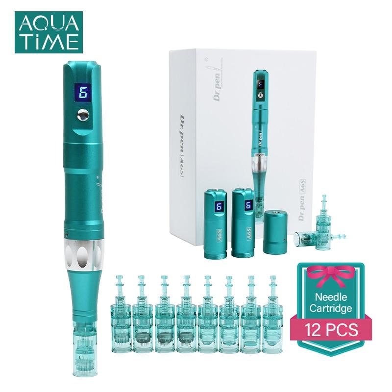 Dr Pen Ultima A6S Wireless Professional Microneedling Derma Pen Electric Micro Needle Skin Care Device 12pcs Needle Cartridges