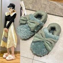 Home Slippers for Women Winter Furry Short Plush Man Slippers Non Slip Bedroom Slippers Couple Soft