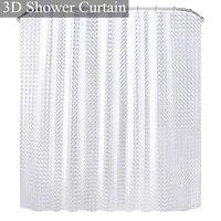 Rideaux de douche PEVA etanches 3D  pour salle de bain  avec crochets  transparents  blancs et clairs  de luxe