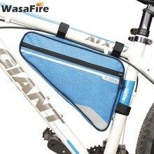 Bolsa triangular para bicicleta, bolsa para marco de tubo frontal, Bolsa delantera de bicicleta triangular para ciclismo de montaña