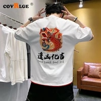 covrlge mens cotton t shirt printing summer fabric mens basic top fashion t shirt 12 colors streetwear loose style mts548