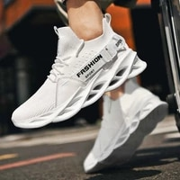slip on sports shoes man big size white sneakers low top running shoes breathable mesh sport shoe for man blade trainers 2020 i6
