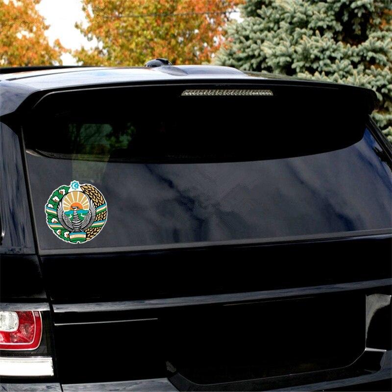 Купить с кэшбэком Car-Sticker Automobiles Motorcycles Window Bumper Laptop Vinyl Decal PVC Decorative Goods Creative Uzbekistan badge 15x15cm