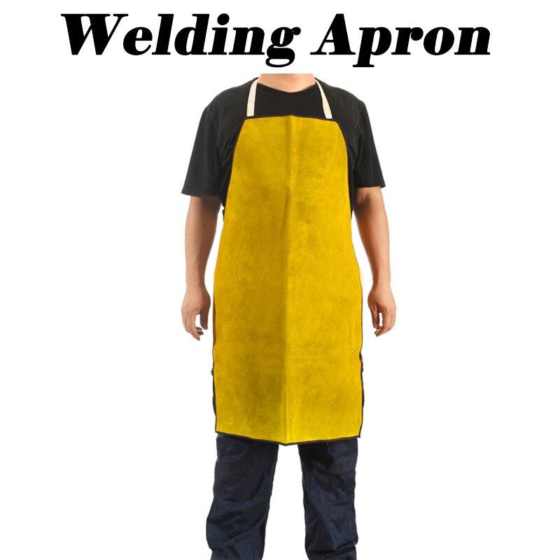 Профессиональный сварочный фартук, Защитная ткань для сварки кожи, Столярный фартук кузнечного желтого цвета, Рабочий Фартук