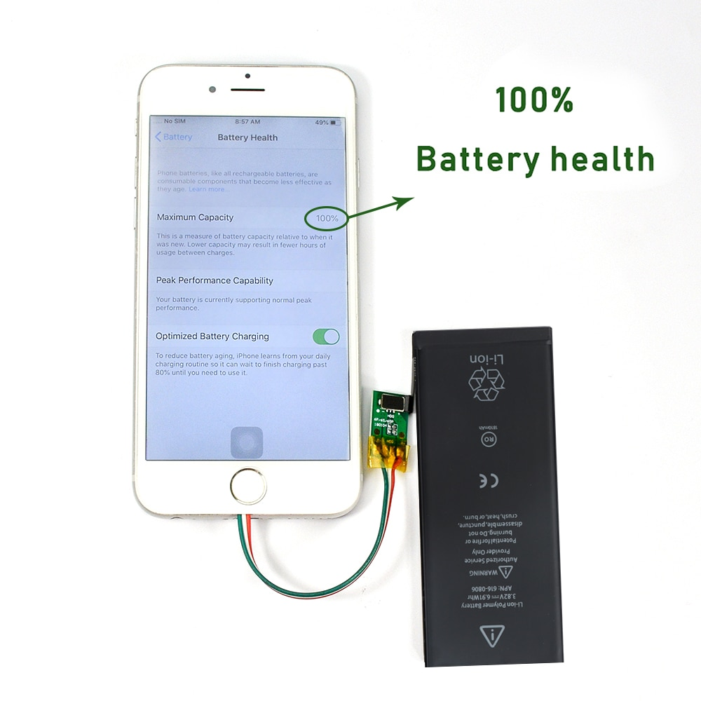 10pcs/lot High Capacity Battery For Apple 6S 6 7 8 Plus 5S 5 6Plus 7Plus X XS 11 Pro Max Replacement Bateria For iPhone 6S 7 enlarge