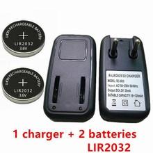 1 PIÈCES chargeur + 2 PIÈCES LIR2032 LIR2025 ML2032 ML2025 CR2032 pile chargeur prise UE bouton lexcellence
