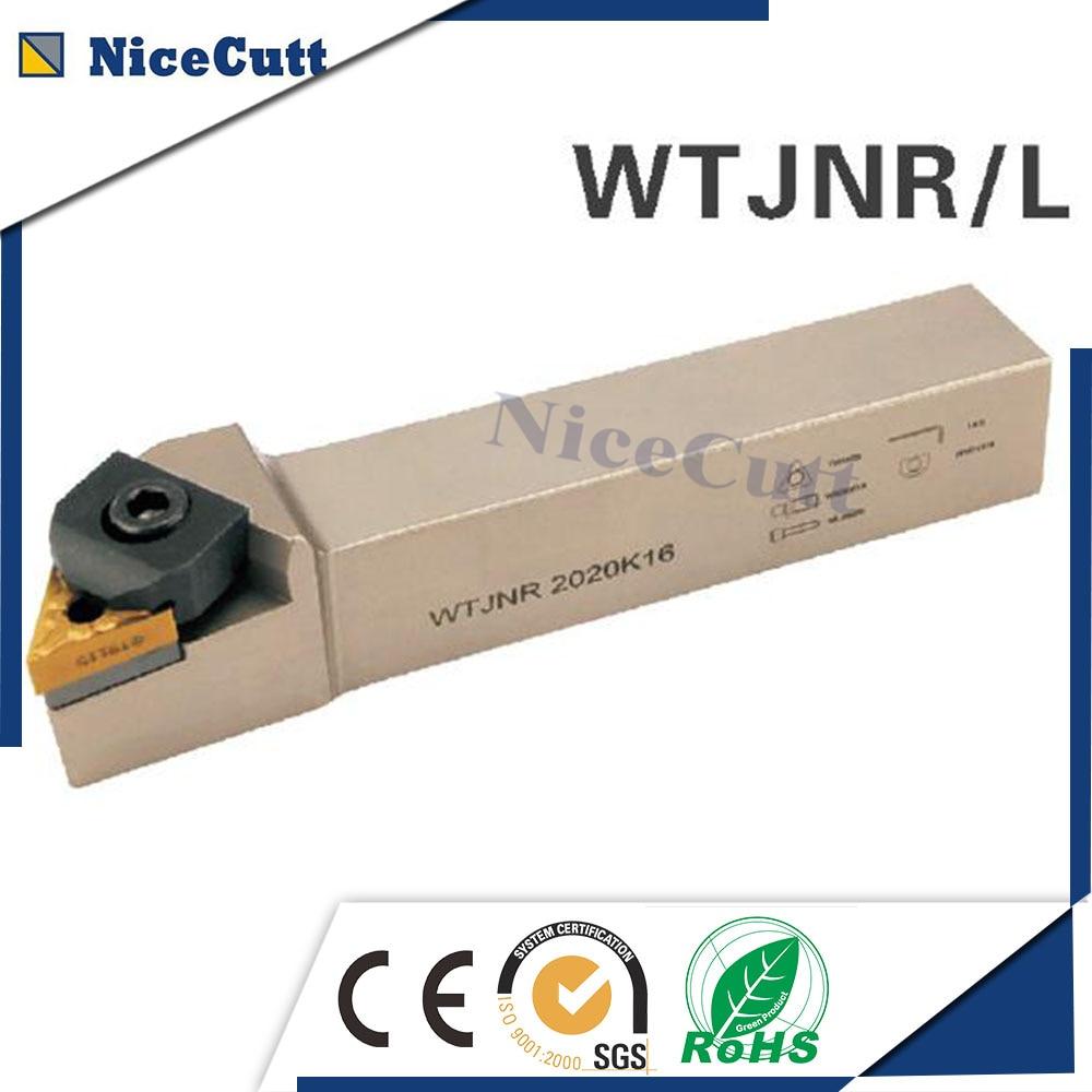 Nicecutt wtjnr2525m22/3232p22 torneamento externo ferramenta titular para inserção tnmg e acessórios de alta qualidade titular ferramenta torno