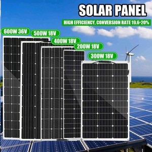 600W-200W Semi-flexible Solar Panel 18V 36V USB Solar Cell DIY Sun Power Module Outdoor Connector Battery Charger for RV Boat