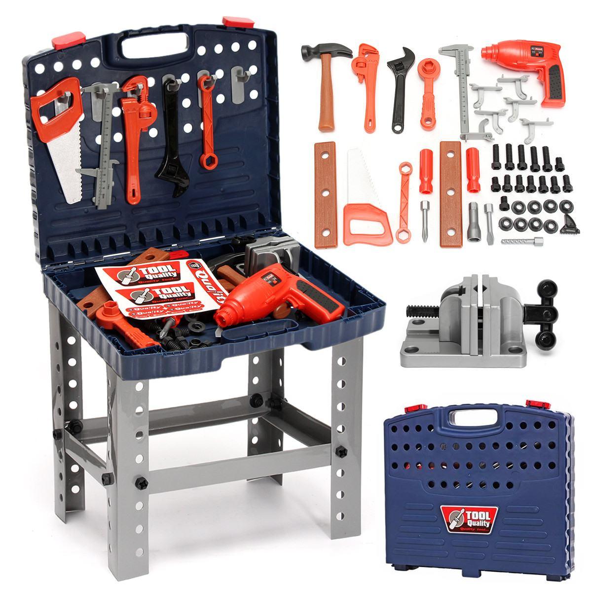 69PCS/Set KidsToolbox Kit  Children's Simulation Repair Tools Workbench Toy Set Engineering Learning Toys Plastic Hand DIY Tools