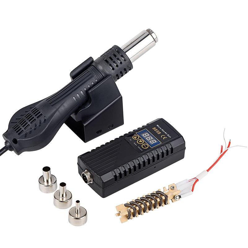 8858 Hot Air Guns Micro Rework Soldering Station LED Digital Hair Dryer for Soldering 700W Heat Gun Welding Repair Tools JCD