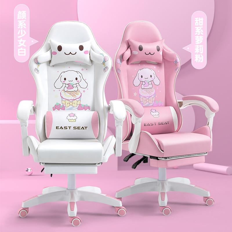 Фото - Новинка 2021, компьютерное кресло, розовое игровое кресло, офисное кресло, кресло с откидывающейся спинкой, Гоночное кресло, кресло кресло