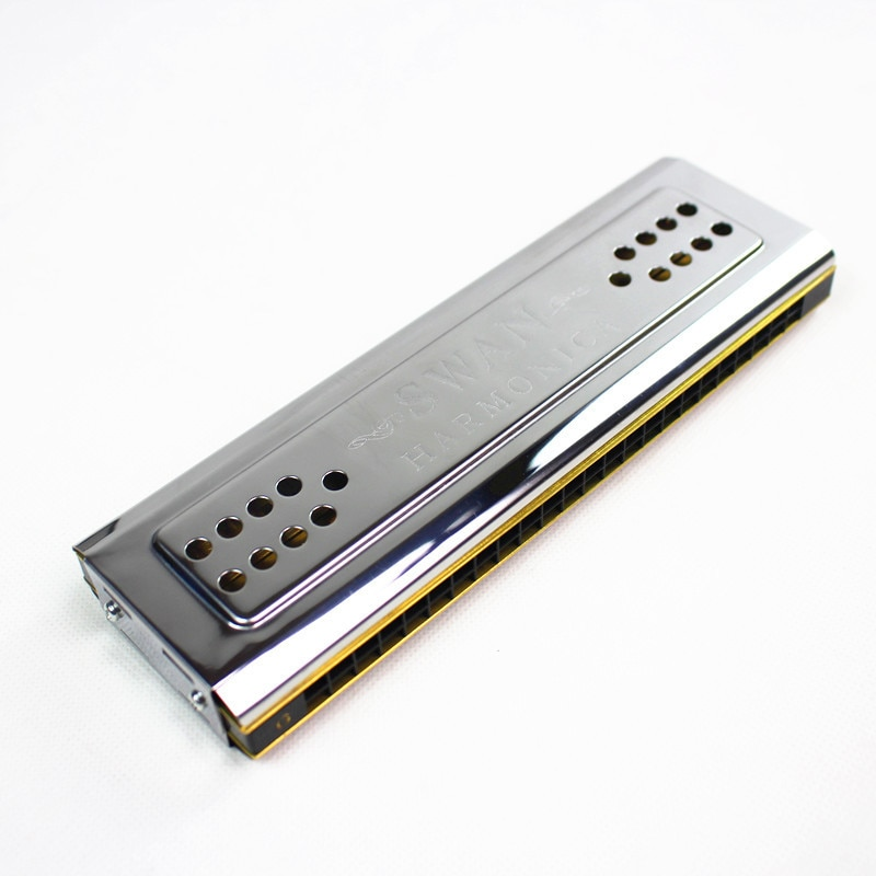 Both Sides  Harmonica Tremolo C And G Key 24 Holes Double Harmonica Harp Mouth Organ Woodwind Instruments swan sw bs high end low pitch bass harmonica in gift box professional accompaniment harmonica woodwind musical instruments harp