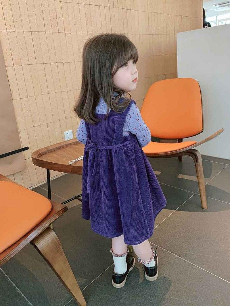 Детское милое платье, осенняя Стильная юбка-жилет для девочек, детская юбка для 3-8 лет