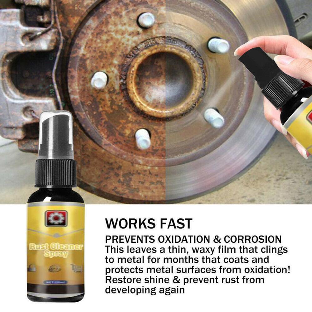Spray para limpeza de ferrugem meio de 30ml, poderoso, todo o uso, spray lubrificante para limpeza de carro, ferramentas de limpeza, anti-ferrugem hous v3i8