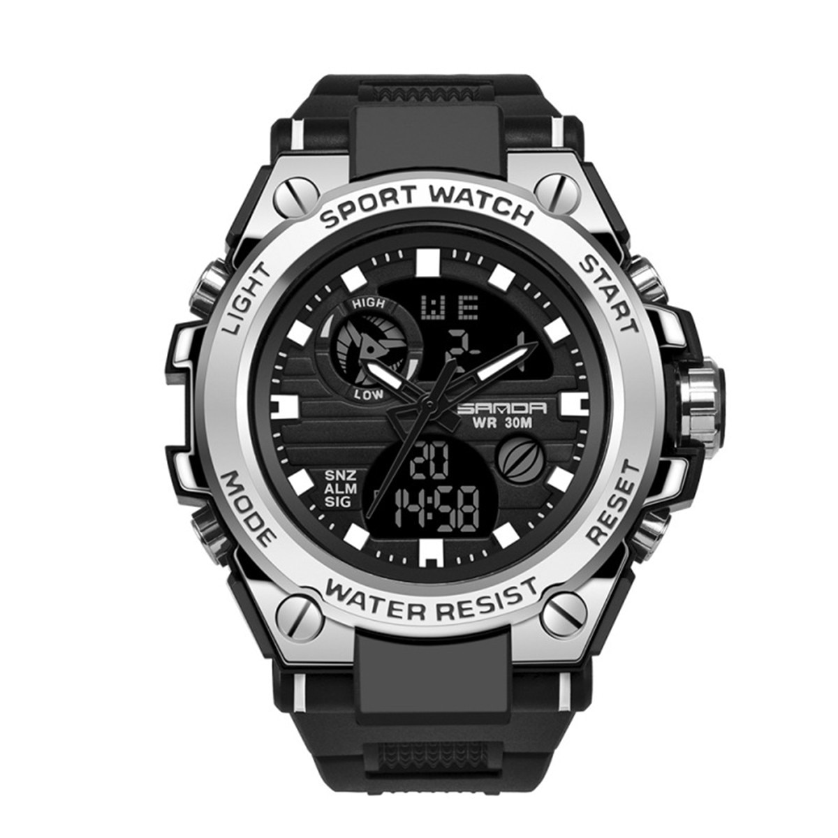 Фото - Men's Digital Watch Wristwatch Luxury Electronics Sport Military Offers With Free Shipping Chronograph Waterproof Multi-Function 2021 new sport travel lover watches carnival red digital clock gift for men waterproof electronics offers with free shipping