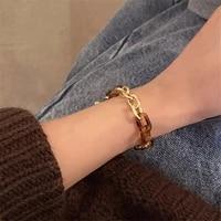 ioy irene bohemia metal resin chain link bracelet for women new fashion jewelry accessories b202