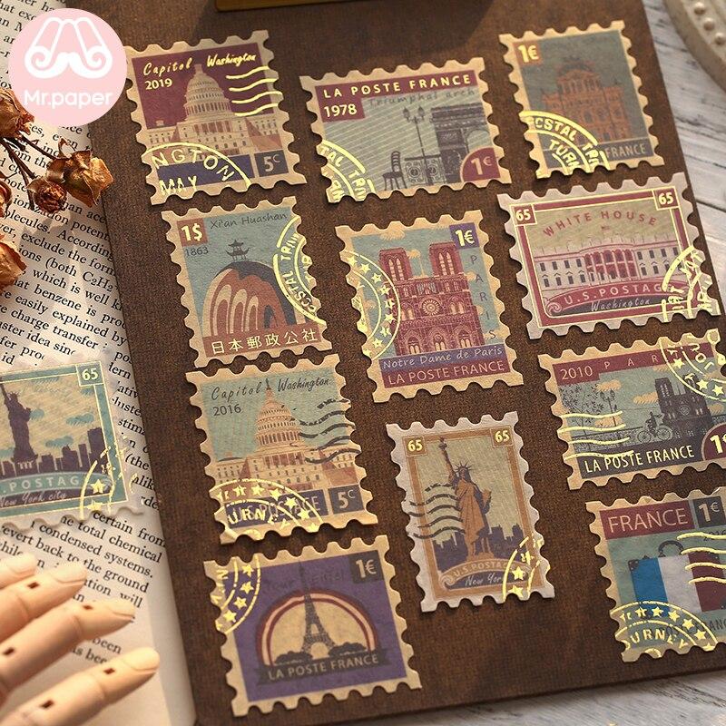 il-sig-sacchetto-di-carta-4-pz-pacco-impressioni-in-oro-vintage-retro-stamp-di-viaggio-pianta-adesivi-creativi-proiettile-ufficiale-deco-adesivi-cancelleria