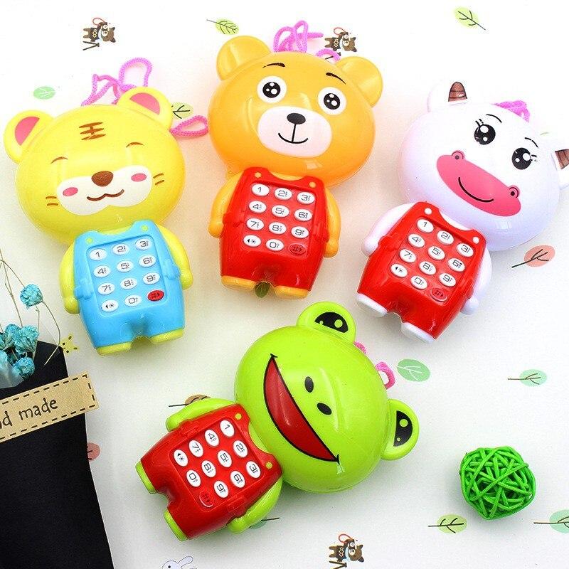 Музыкальная мини-милый детский телефон Игрушки для раннего обучения мультфильм мобильный телефон детские игрушки электронные игрушки для ...