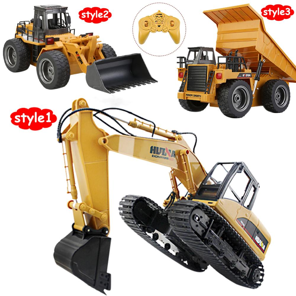 1:14 Construction Excavator 2.4GHz 15-Channel Kids Toys Construction Vehicles for Boys Movable Tractor Toy Gifts ABS enlarge