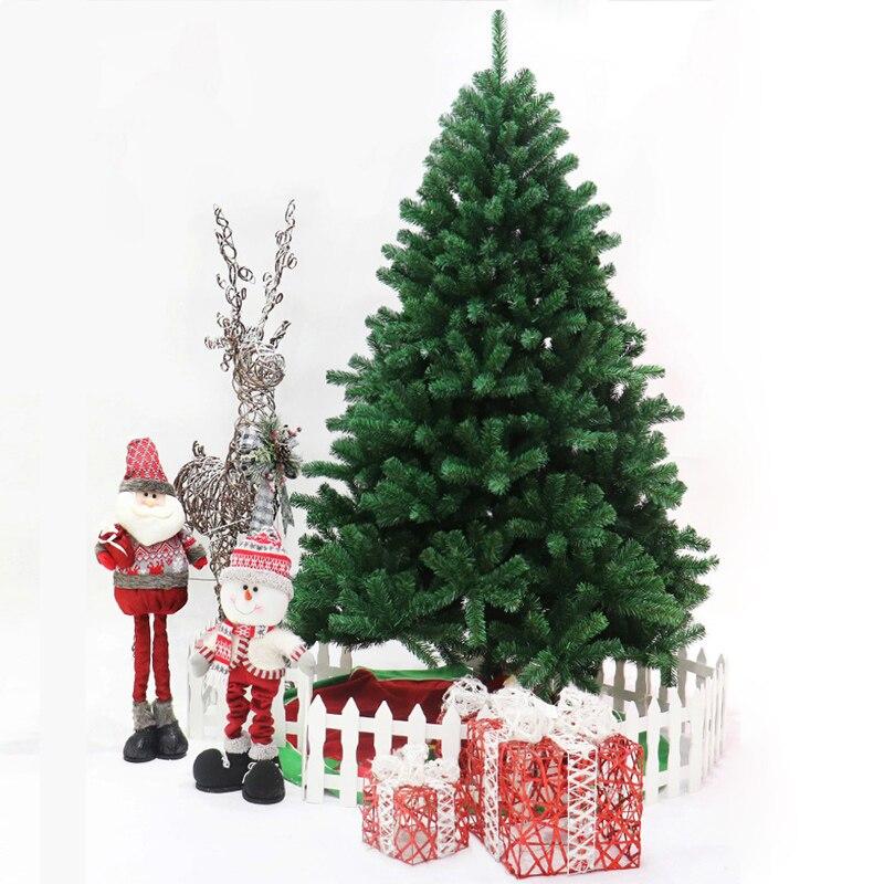 Árvore de Natal Decoração da Árvore de Natal 180 cm Verde Mini Artificial Decoração da Santa Árvore Festa Estatueta Presente 45 60 90 120 150
