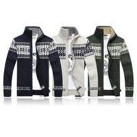 Зимний толстый мужской вязаный свитер пальто Off White кардиган с длинными рукавами; Флисовая толстовка с полноразмерной молнией, мужские повс...