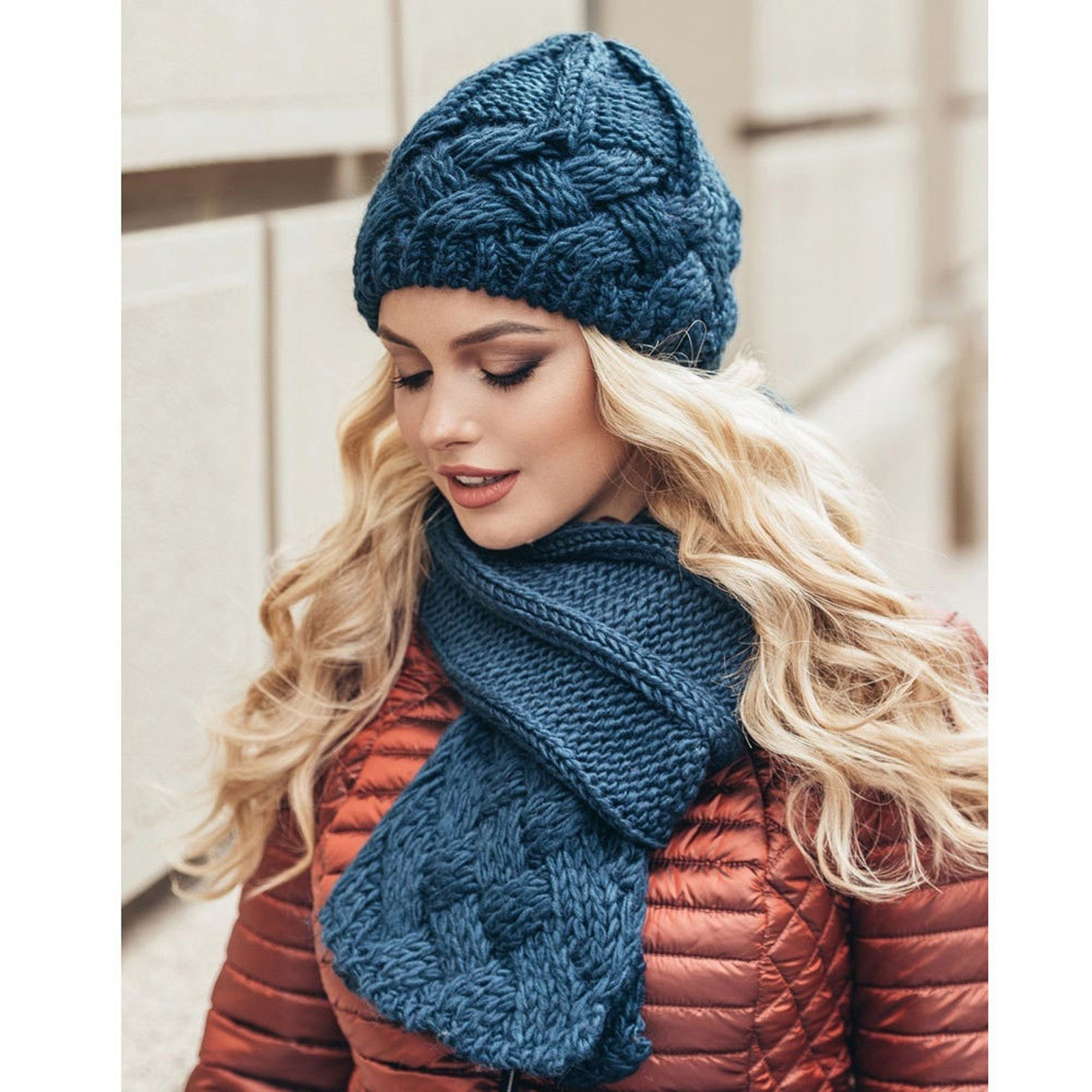 Женская шапка, модная зимняя теплая Шапка-бини, Повседневная вязаная шерстяная шапка с подшивкой, шапка для женщин, шапки для мужчин
