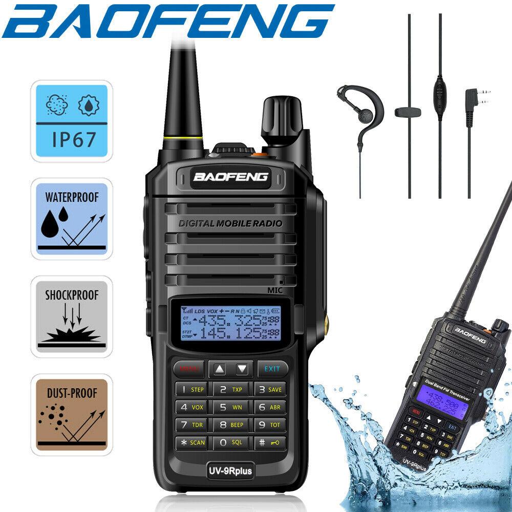 1/2X BAOFENG UV-9R PLUS WATERPROOF IP68 WALKIE TALKIE HIGH POWER TWO WAY RADIO VHF UHF PORTABLE RADIO WALKIE TALKIE UV9R PLUS