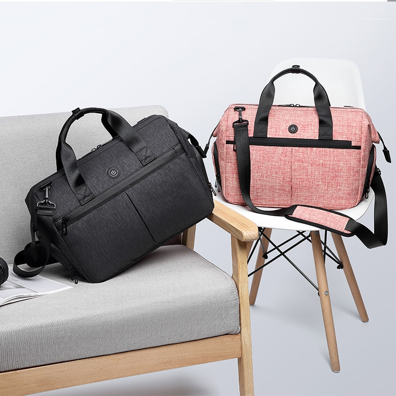 Baby Diaper Travel Tote Bag Travel Carry Bag One-key Disinfection Takes Only 5 Minutes+Stroller Straps Drop Ship