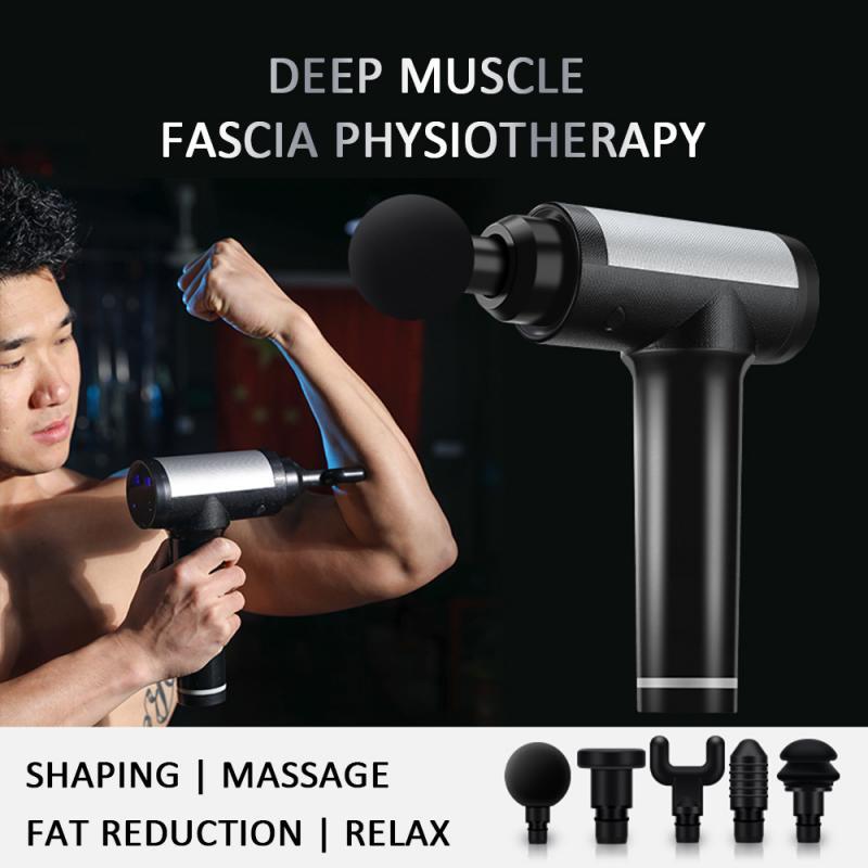5 Massage Heads LCD Touch Screen Massage Gun Sports Fatigue Injury Recovery Percussion Massager Muscle Relaxation Fascia Gun NEW