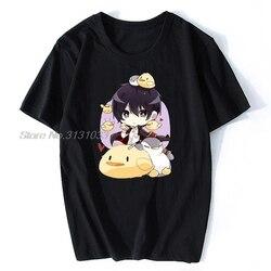 Novo verão t shirt dos homens chibi hibari camisa de algodão hitman reborn ofertas algodão tshirt anime tees harajuku streetwear