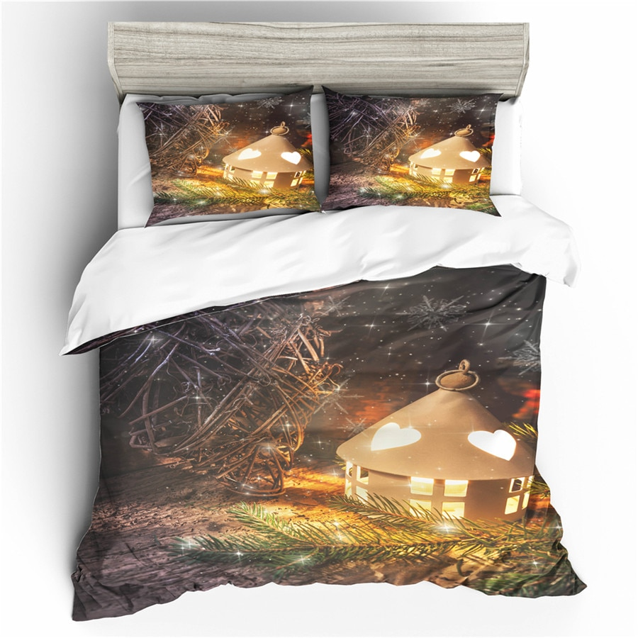A Bedding Set 3D Printed Duvet Cover Bed Set Christmas Home Textiles for Adults Bedclothes with Pillowcase #SDJ35