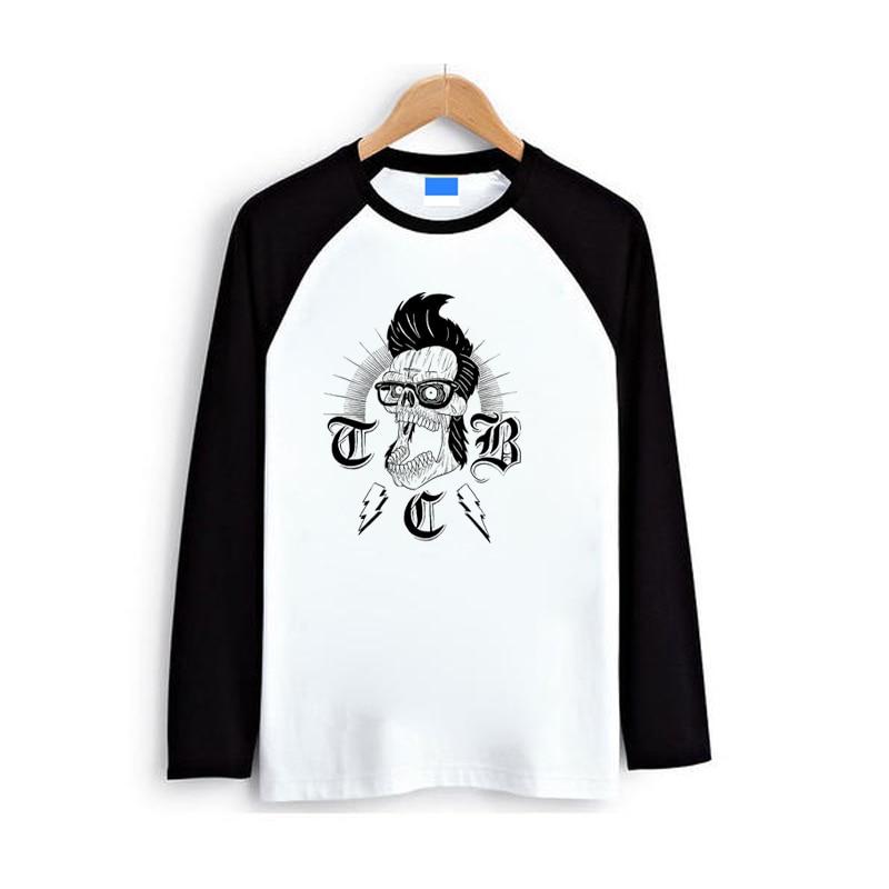 Rock n roll tatuaje rockabilly moda hombres mujeres chico chica raglan manga larga completa camiseta Primavera Verano otoño ropa