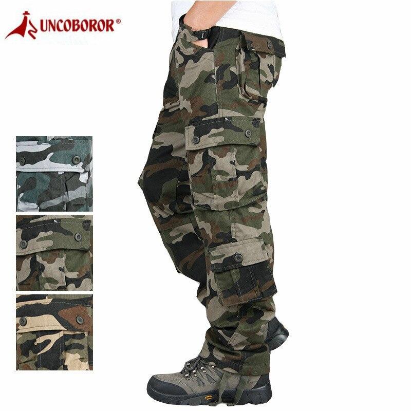 Pantalones Cargo de camuflaje para Hombre, pantalones holgados de combate holgados y multibolsillos, pantalones militares para Hombre 44