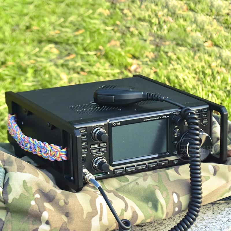 درع مقبض حقيبة حمل حامي ل ICOM IC-9700 IC-7300 بحبل اليد مضفر