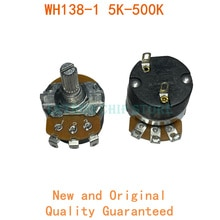 Regulador de velocidad de resistencia ajustable, 2 uds., WH138-1, con controlador de circuito, B5K, B10K, B20K, B50K, B100K, B200K, B250K, B500K, B1M