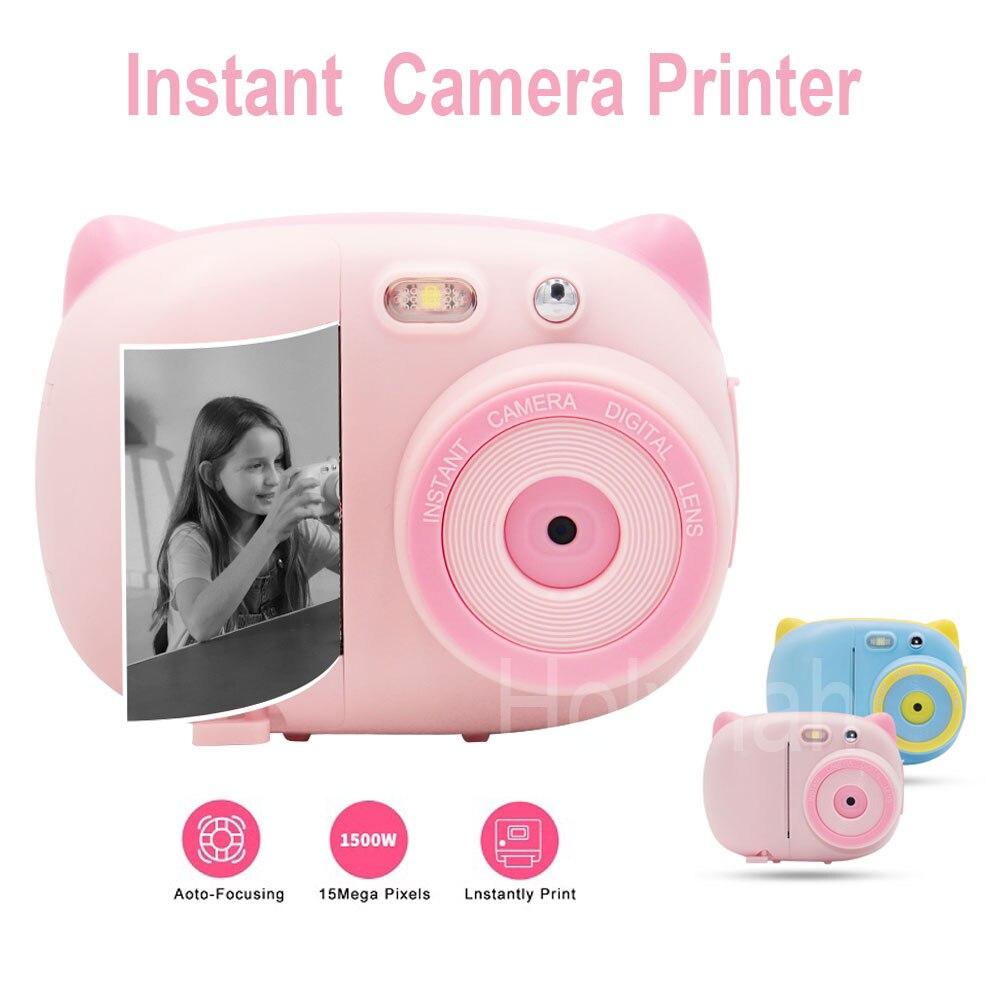 كاميرا صغيرة فورية للأطفال ، طابعة صور جرافيتي ، واي فاي ، 1080 بكسل ، 15 ميجا بكسل ، كاميرا SLR رقمية ، لعبة أطفال ، مسجل فيديو
