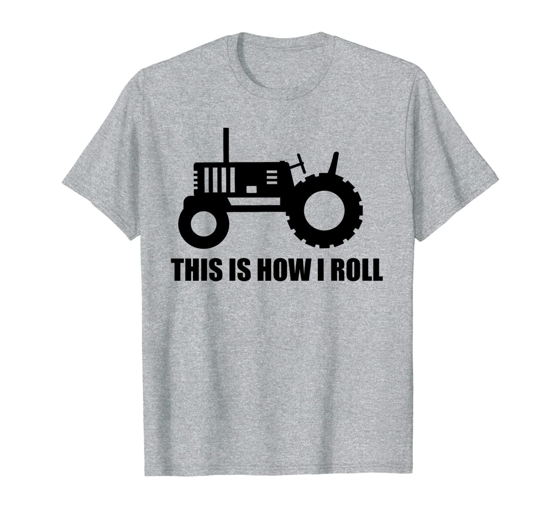 Вот как я скатываю футболку на трактор