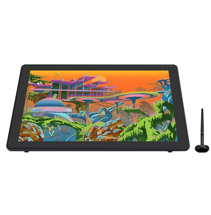 HUION Kamvas 22 Plus Graphic Pen Display Digital Art Painting Tablet Monitor 21.5 inch with Anti-glare Etched Glass 140%sRGB