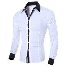 KANCOOLD hommes chemises décontractées 2019 automne nouvelle mode couleur unie homme à manches longues coton Slim Fit décontracté affaires bouton chemise hauts